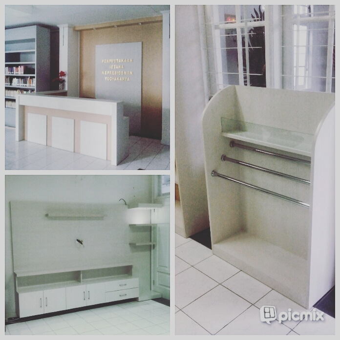 Custom furniture receptions dan ruang baca